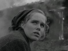 **Shame (Skammen) Liv Ullmann, Max von Sydow - Director: Ingmar Bergman - fascinating look at the deterioration of a relationship in the face of a horrible war. A couple living on an island find themselves in an untenable situation. Bergman Film, Ingmar Bergman, Max Von Sydow, Idol, Reference Images, Love Movie, Film Stills, Film Director, Archetypes