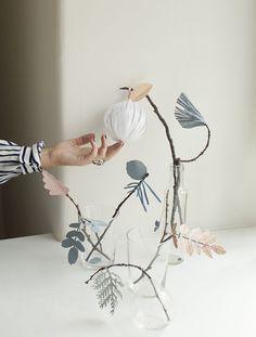 Creative idea for winter floral arrangements.