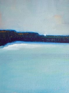 Calm Ocean Original Oil Painting Wall Art Abstract by VESNAsART