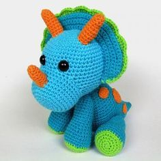 Triceratops Tripi amigurumi pattern by DioneDesign
