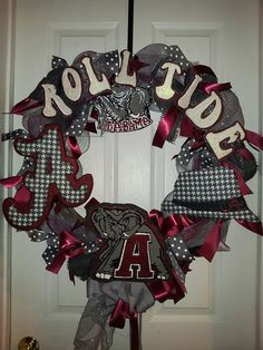 University of Alabama Roll Tide Door Wreath by AutumnsOriginals, $75.00