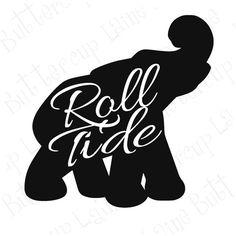 Alabama Elephant  Roll Tide Yeti Vinyl Decal by ButtercupLaine