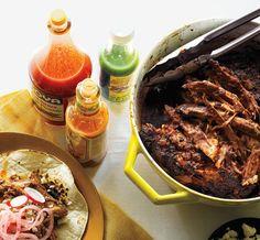 Chile Braised Pork Shoulder Tacos