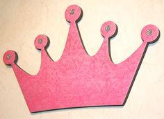 Princess crown wall decor , Pink wall decor, Pink Princess, Wall decor for girls room on Etsy, $15.00