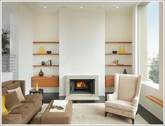 Openable gas fireplace