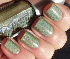 Depend holographic nail polish- green