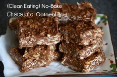 These No-Bake Chocolate Oatmeal Bars will satisfy your sweet tooth while keeping you on track with your clean, whole eating plan. Easy and delicious, whip up a batch today!