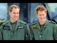 BAND OF BROTHERS  Together again, the princes sync up for a photo call at Royal Air Force Shawbury, home of the Defence Helicopter Flying School, where William trains to become a Royal Air Force search-and-rescue pilot and Harry prepares to join the Army Air Corps.