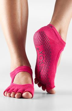 ToeSox 'Bella' Half Toe Gripper Socks perfect for pilates and barre.