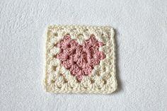 Love heart Granny Square