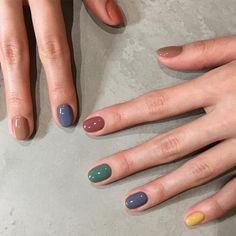 cute nail designs for every nail 1 Chic Nails, Stylish Nails, Swag Nails, Hair And Nails, My Nails, Nail Polish, Funky Nails, Manicure E Pedicure, Minimalist Nails