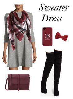 """""""Sweater Dress"""" by cheezer1004 on Polyvore featuring Autumn Cashmere and MANGO"""
