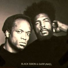 Black Simon and Garfunkel - waiting for the box set to come out  #latenightwithjimmyfallon #theroots