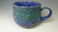 WHEEL THROWN MUG. Handmade Mug. Coffee by SharonMirandaPottery