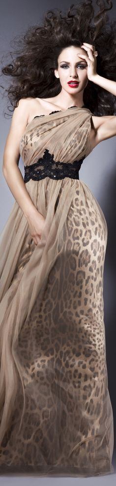 I AM WILD Collection: FALL IN LOVE  Rochie de seara animal print gown #animalprint #oneshoulder #dress!!!!!!!!