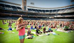 San Diegans are practicing yoga in the unlikeliest of places and ways.