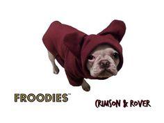 French Bulldog Boston Terrier Pug Dog Froodies Hoodies Maroon Sweatshirt Coat #FroodiesHoodies