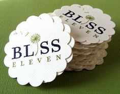 Interesting Design- The use of a dandelion as the I in bliss is very creative.