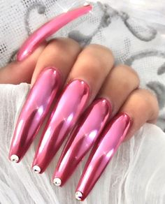 Awesome Acrylic Coffin Nails Designs In Summer - Nail Designs Long Red Nails, Long Fingernails, Beautiful Nail Art, Gorgeous Nails, Coffin Nails, Acrylic Nails, Crome Nails, Toe Designs, Sexy Nails
