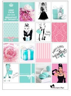 Breakfast at Tiffany's Erin Condren Stickers by LittleSurpriseShop
