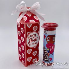 Tall & Skinny Milk Carton for M&Ms Minis - The Paper Pixie Valentine Treats, Valentine Day Cards, Valentines, Christmas Craft Show, Paper Crafts, Diy Crafts, 3d Paper, Paper Boxes, Milk Box