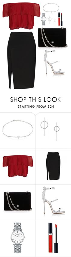 """""""Untitled #519"""" by hayleyl22 ❤ liked on Polyvore featuring Adriana Orsini, Keepsake the Label, Giuseppe Zanotti, Longines and Christian Dior"""