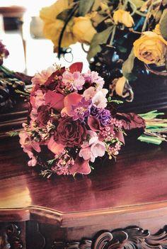 Purple and Lavender Bridal Bouquet www.flowersandstuff.com
