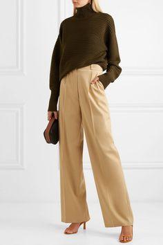 Victoria, Victoria Beckham | Ribbed merino wool turtleneck sweater | NET-A-PORTER.COM