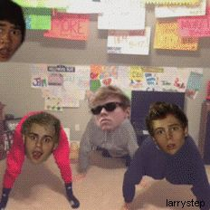 This fandom again. And Dem White Boyz @Rebekah Sefton TRY KEEPIN A STRAIGHT FACE WHEN YOU SE THIS 5SOS GIF, JUST TRY. I COULDN;T