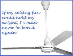 Humor. Funny. Ceiling Fan.
