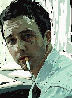 Edward Norton in Fight Club by POLO88.deviantart.com on @deviantART