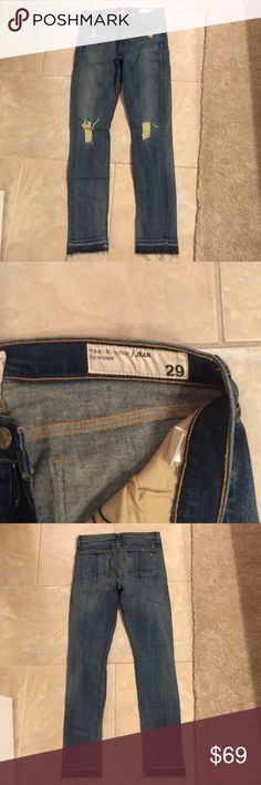 NWOT rag and bone jeans NWOT Rag and Bone for intermix jeans. Great style and super soft rag & bone Jeans Skinny