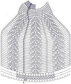 Discussion on LiveInternet - Russian Online Diaries Service Filet Crochet, T-shirt Au Crochet, Crochet Shawl Diagram, Crochet Chart, Crochet Home, Crochet Doilies, Crochet Stitches, Crochet Patterns, Crochet Gratis