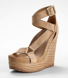 565a657c77bf1d Tory Burch Brenden Croc High Wedge Nude Wedges
