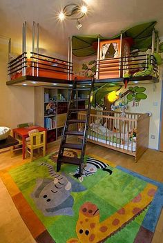 Childrens room. Not sure how to do this.  But how lucky would your kids be.  Some version of this.
