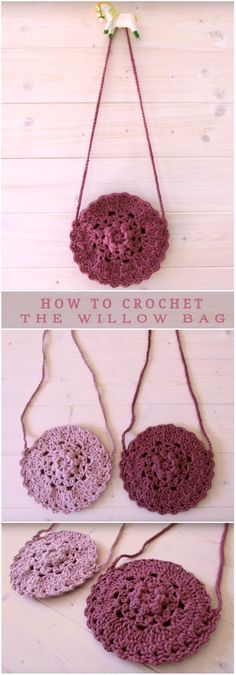 Crochet Tutorial Ideas Video Tutorial How To Crochet Beautiful Willow Bag. - This tutorial will show you how to crochet a pretty flower bag/purse. This bag is suitable for beginners. Love Crochet, Crochet Gifts, Easy Crochet, Crochet Hooks, Knit Crochet, Crochet World, Crochet Handbags, Crochet Purses, Crochet Bags