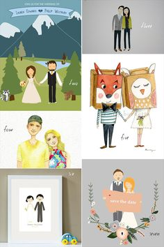 Custom Wedding Illustrations
