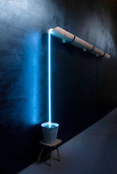 Neon installation by Rolf Sachs Neon Lighting, Lighting Design, Lighting Ideas, Unique Lighting, Wall Lighting, Lighting Solutions, Luxury Lighting, Custom Lighting, Pendant Lighting