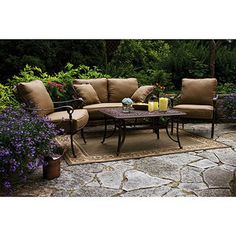 Better Homes And Gardens Lake In The Woods Patio Conversation Set, Seats 4