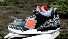 f5f5a9a821da4c Air Jordan 3 Retro  88 – Black   Cement http   www.