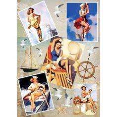 рисовая бумага для декупажа Пин-ап морячки 02-0205 28,2*38,4