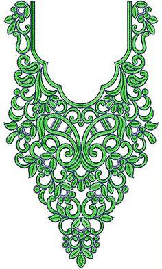 Dubai Clothing Cording Neck Design