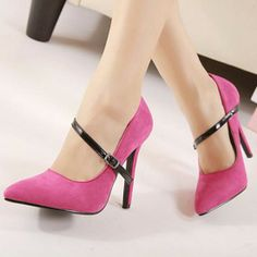 Not really a big fan of pointed toe heels, but these! Pink High Heels, Super High Heels, High Heels Stilettos, Women's Pumps, Stiletto Heels, Shoes Heels, Pink Pumps, Flats, Flip Flop Boots