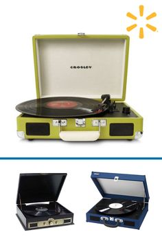 Love the rich, warm sound of vinyl, but wish it was a more moveable music format? Put down the iPod and mobilize your music with the Crosley Cruiser three-speed portable turntable. Constructed of wood and bound in a leatherette material, the briefcase-styled record player is lightweight and easily transported.