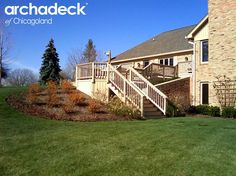 Wood deck by Naperville deck builder Archadeck of Chicagoland