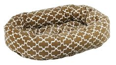 Bowsers Donut Dog Bed Microvelvet Cedar Lattice Medium 35 ** Click image to review more details.(This is an Amazon affiliate link)