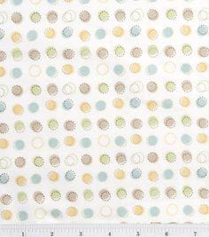 Nursery Flannel Fabric Oh Baby Stitch Dot