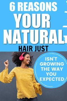 If your natural hair is not growing it could be down to one of these 6 reasons. Take a look to make sure you are not falling victim to this. #naturalhair #curlyhair