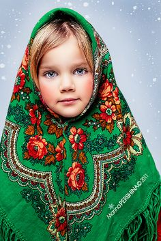 Matryoshka - Photgraphy: Marina Pershina Russian girls. Russian beauty. Folk. Traditional Russian scarf.