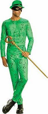 Rubies Batman The Riddler Costume - 38-40 Inches Youll be sure to look the part in this fantastic fancy dress costume! Perfect as an idea for Halloween. or for any fancy dress party. Includes: a jumpsuit with a muscle chest. an eye mask and a bowler http://www.comparestoreprices.co.uk//rubies-batman-the-riddler-costume--38-40-inches.asp